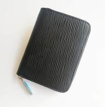 Bolsa de moedas casual feminina multifuncional carteira curta de couro ondulado de água