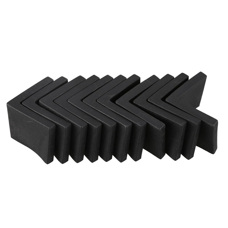 New-Furniture Angle Iron Leg Rubber Foot Cover Protector 44mm X 44mm 10Pcs