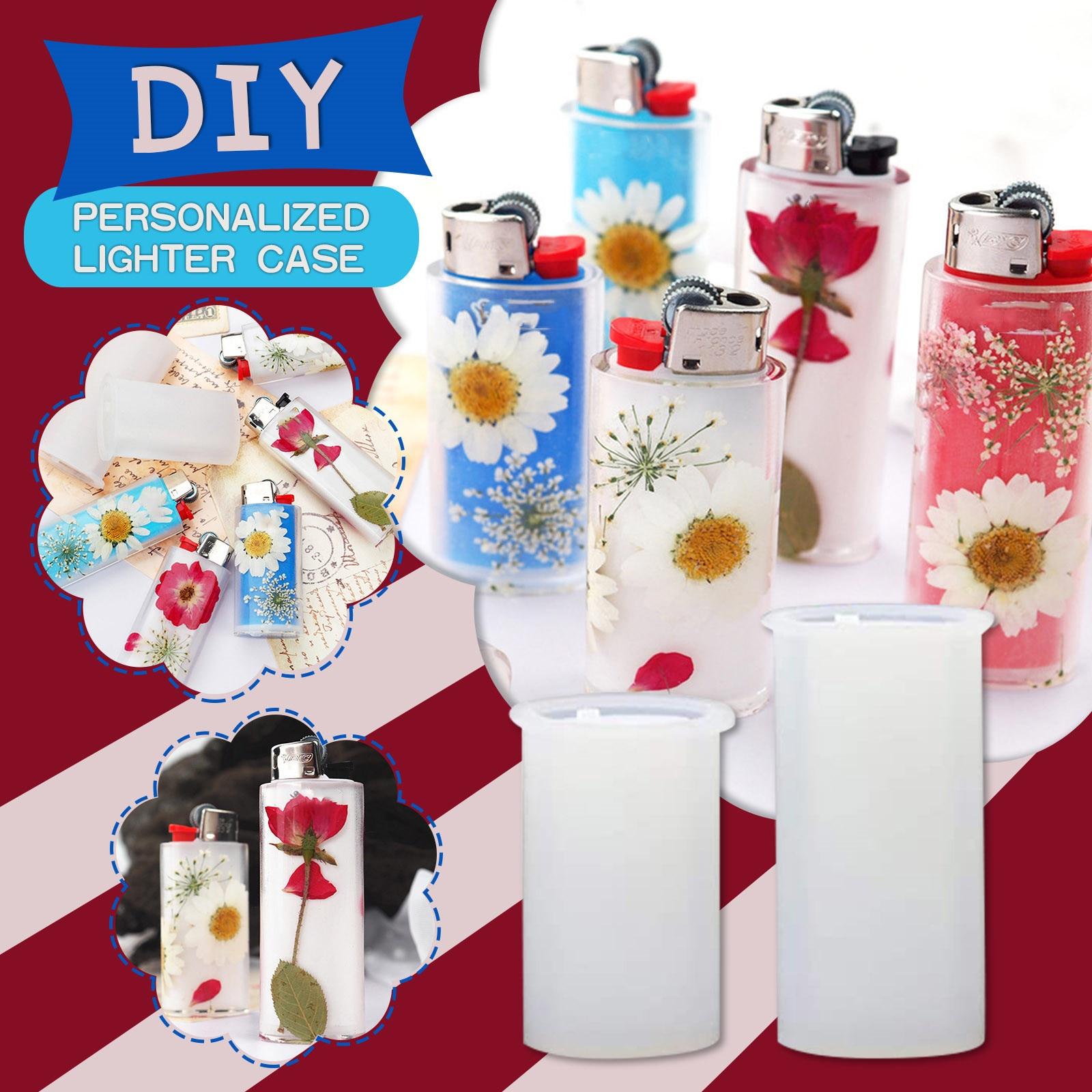2pcs Lighter Case Silicone Molds Handmade Boyfriend Gift Diy Craft Cigarette Lighter Protective Cover Resin Mold
