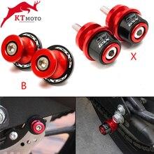 Para suzuki gsxs750 gsxs1000 F ABS gsxs 750 1000 125 150 acessórios da motocicleta cnc m8 swingarm carretéis slider suporte parafuso