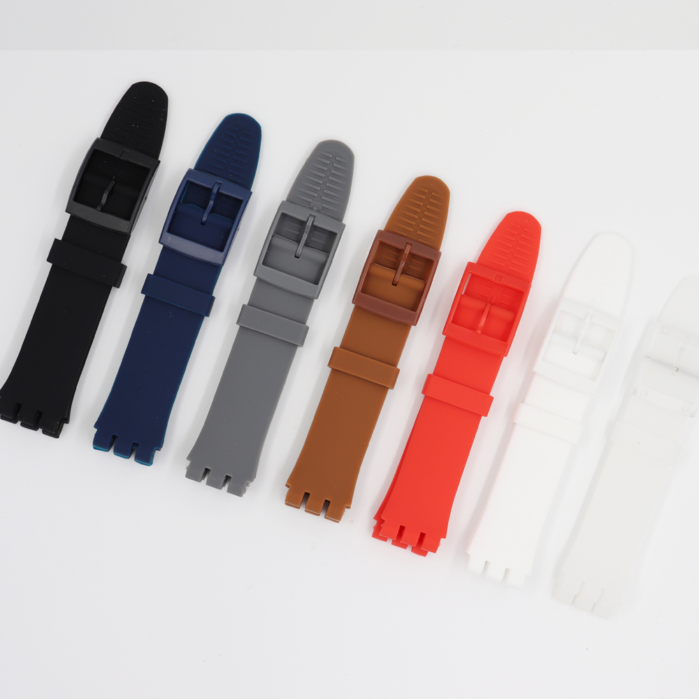 MR NENG Replacement Watchband Black Red Navy Watch Band Strap For Swatch Strap 17mm And 19mm 20mm High Quality For Special Offer