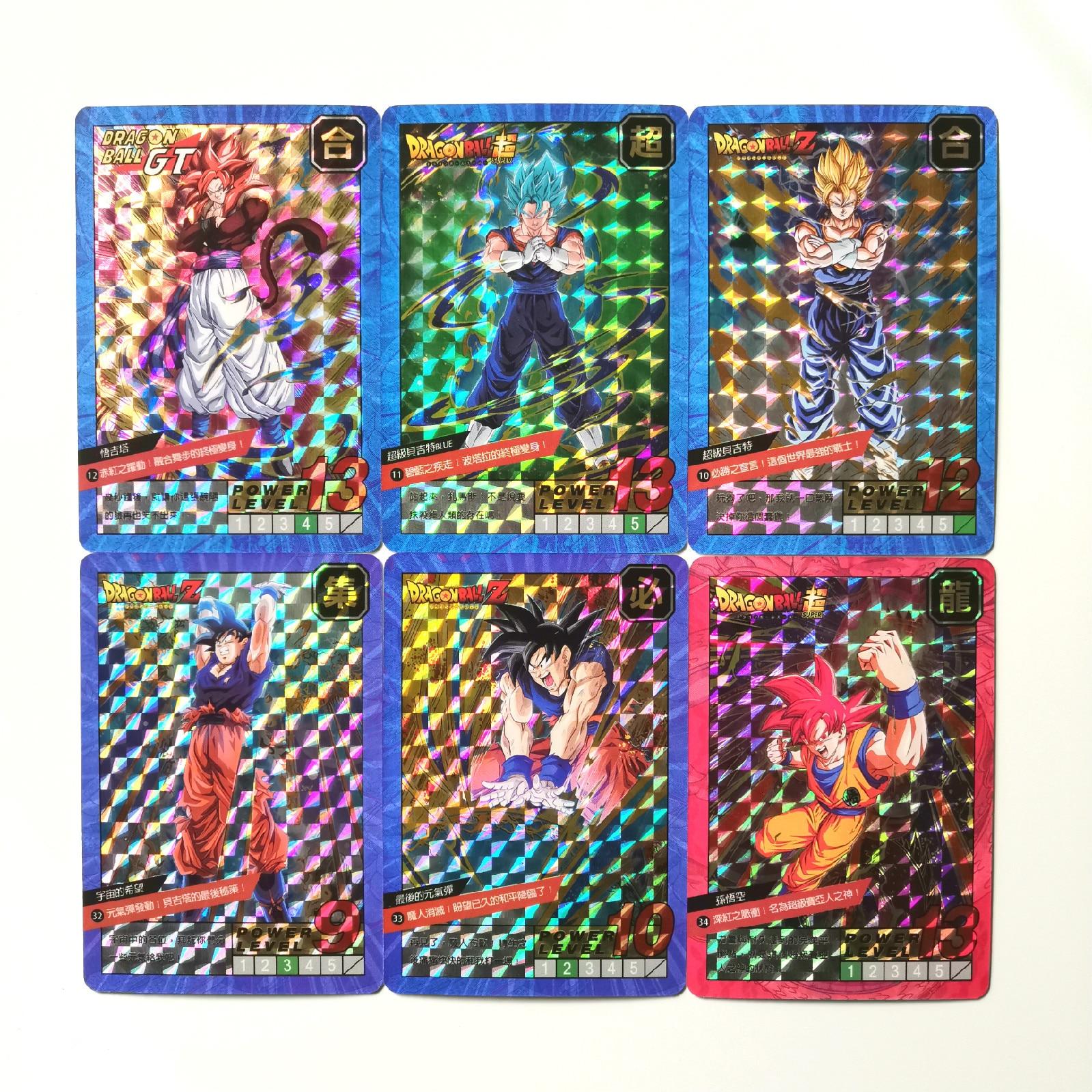 37pcs Super Dragon Ball Heroes Battle Card Ultra Instinct Goku Jiren Hit Kale Vegeta Dragon Ball Super Game Collection Cards