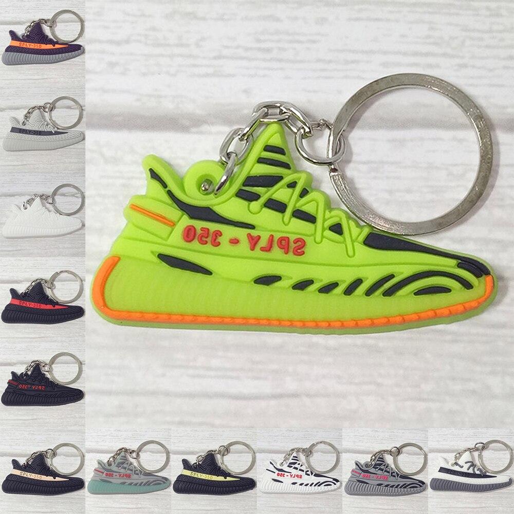 10 PCS Silicone SPLY-350 V2 Shoes Keychain Key Ring Gift Porte Clef Sneaker Key Chain