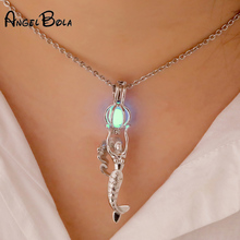 цена на Lucky Pearl Cage wish Pendant Necklace sliver wish akoya oyster women jewelry necklaces gift