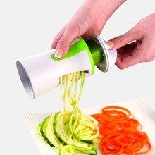 Spiralizer spiralizer spiralizer spiralizer spiralizer portátil de aço inoxidável espiral slicer para batatas abobrinha espaguete