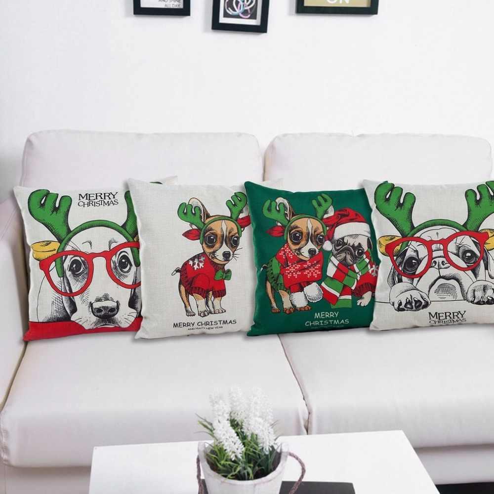 2017 新着素敵なクリスマス犬シリーズクッション快適なシート枕 4 パターン枕カバーホーム Texile