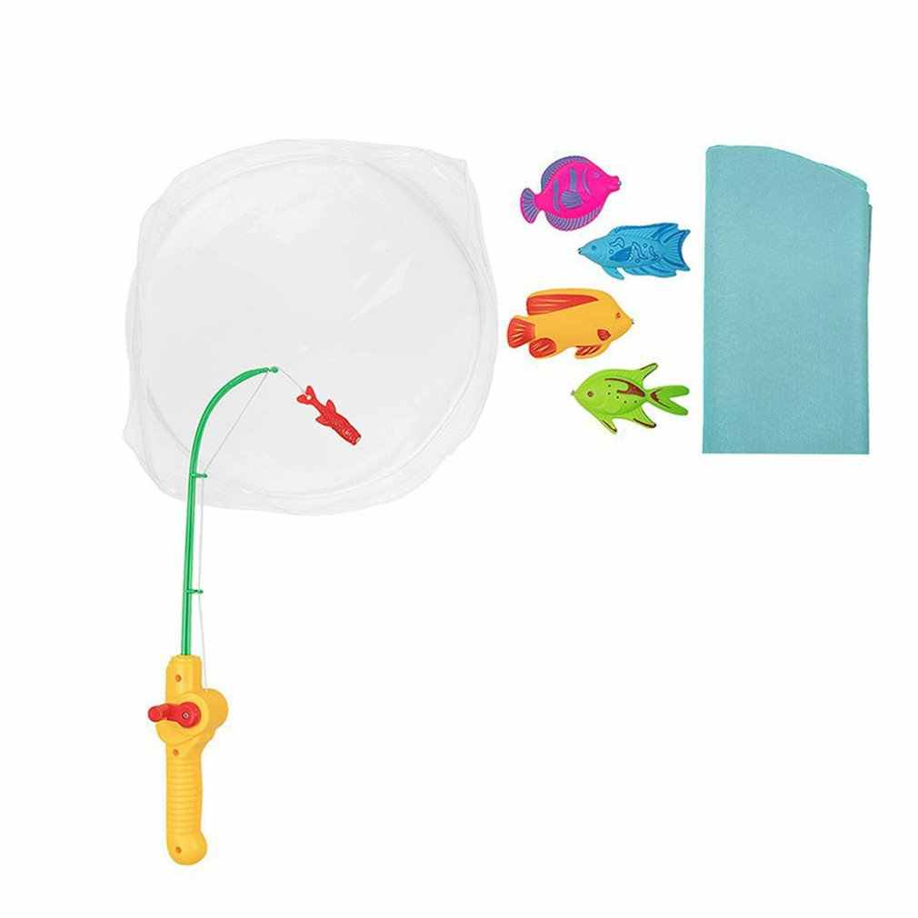 Juguete magnético Mini juego de pesca de baño Set orinal novedad exquisitos divertidos dispositivos juego de pescado para adultos niños Juguetes