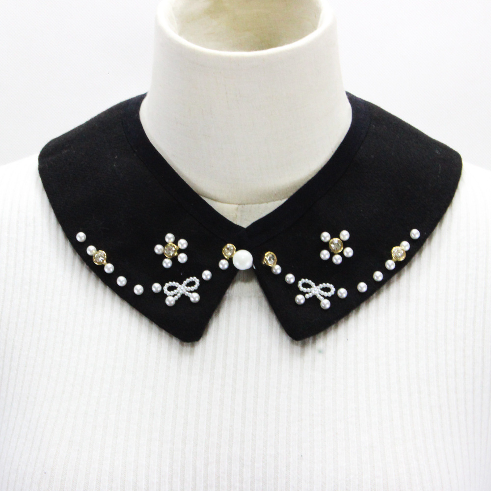 Woolen Nail Pearl Dickie Drill Sweater Decoration Lead Fake Collar Detachable New Free Shipping Shirt Women