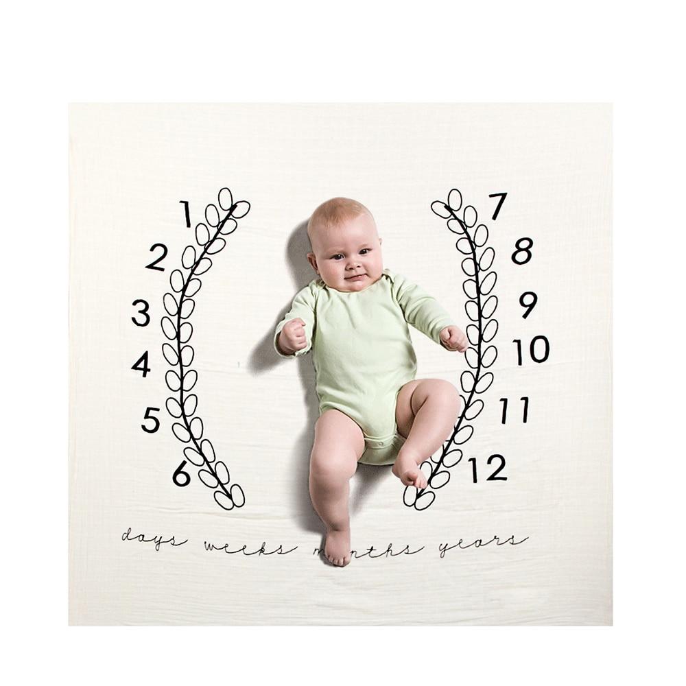 19 стильных детских ежемесячных одеял для девочек и мальчиков с цветочными крыльями, рамка для новорожденных, фон для фотосессии, фланелевый Рождественский олень - Цвет: Type 8