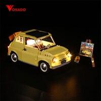 Kit de luz de led vonbao (versão clássica) para 10271 fiat 500 carro luz diy criativo carro  corrida  blocos de construção  brinquedos  apenas leve