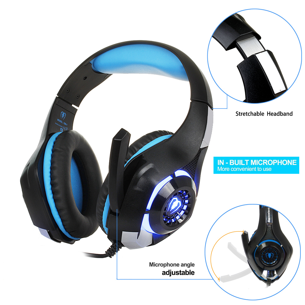 3.5mm Gaming headphone Earphone Gaming Headset Headphone Xbox One Headset with microphone for pc ps4 playstation 4 laptop phone 1
