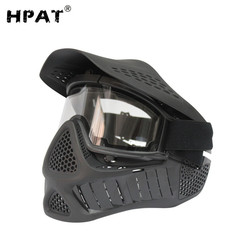 HPAT Tactical Airsoft Mask Anti Fog Paintball Mask with Sly Double Elastic Strap
