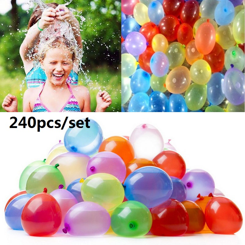 240 PCS Water Balloons Toy Outdoor Game Play Fill Water Magic Bomb Summer Beach Party Toys Swimming Pool Water Toy Children  15L