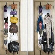 Над Дверные ремни Вешалка крючки Регулируемая шляпа сумка органайзер сумки/кошельки/шарфы/шляпы в висячая посылка с 8 крючками