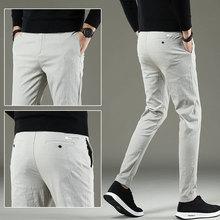 Новые мужские повседневные базовые брюки, деловые брюки, прямые брюки с карманами, Стрейчевые брюки для мужчин, большой размер 38