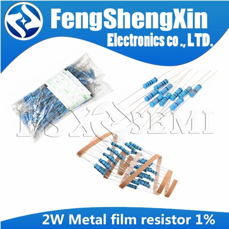 20 шт./лот 2 Вт металлический пленочный резистор 1% 0,1 1R ~ 10M 2.2R 4.7R 1M 22R 47R 100R 220R 470R 1K 10K 100K 2,2 4,7 10 22 47 100 220 470 Ом