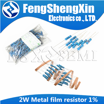20pcs/lot 2W Metal film resistor 1% 0.1 1R ~10M 2.2R 4.7R 1M 22R 47R 100R 220R 470R 1K 10K 100K 2.2 4.7 10 22 47 100 220 470 ohm - sale item Passive Components