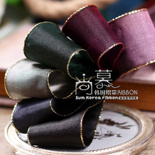100yards 38mm double gold edge satin ribbon for hair bow diy accessories headband craft supplies bouquet flower packing bow 100yards 25 38mm gold glitter metallic edge grosgrain ribbon for bouquet flower gift packing bow hair bow accessories
