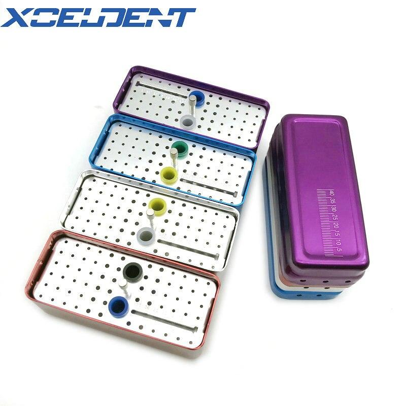 1pcs 72 Holes Dental Disinfection Box Autoclave Sterilizer Case Aluminum Burs Endo Files Holder Dentistry Tools