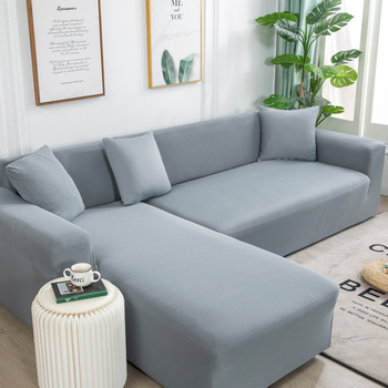 Solid Color Sofa Cover Big Elasticity Stretch Couch Cover Loveseat Sofa Corner Sofa Towel Furniture Cover 1/2/3/4 Seater 1