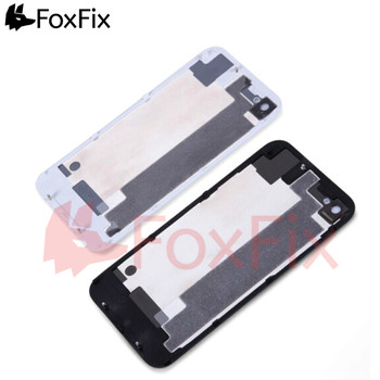 Back Housing For iPhone 4 4S Back Battery Cover Rear Glass Panel Door Plate Case For Apple iPhone 4S Housing 4G Body Replacement protective back case for iphone 4 4s silver black