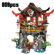 2020New 10806 809pcs Ninjagoings Series The Temple Of Resurrection Model Building Block Brick Toys Children 70643 Gift batman the resurrection of ra s al ghul