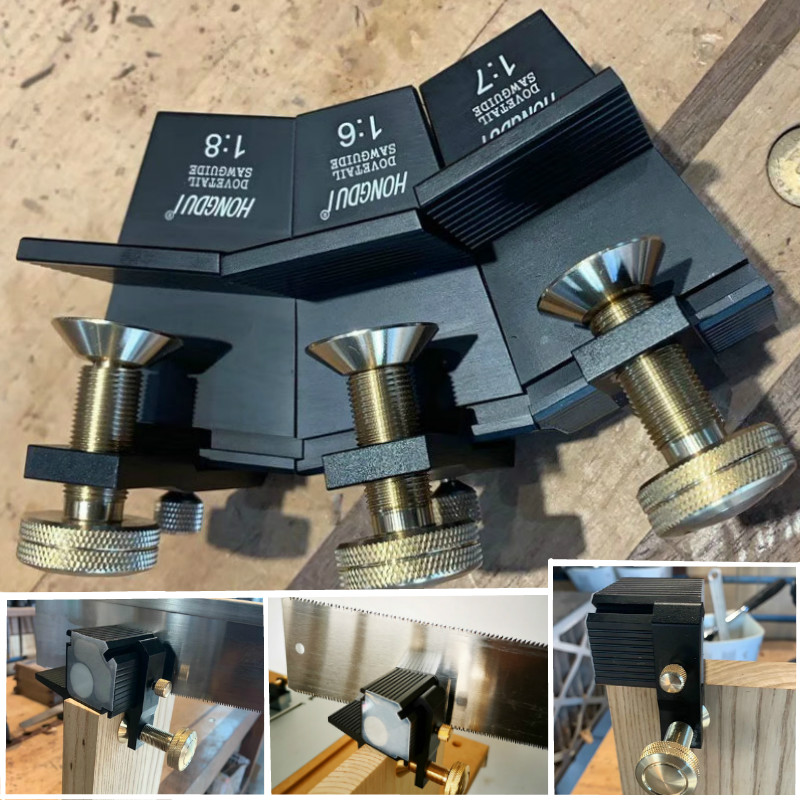 Woodworking Dovetail Guide Rail Saw Gauge Manual 1: 6 1: 7 1: 8 90-Degree Right Angle Saw Cutting Gauge