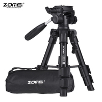 ZOMEI Q100 52cm/20 Lightweight Aluminum Camera Travel Mini Tripod with Quick Release Plate/ Carry Bag for Canon Nikon Sony DSLR