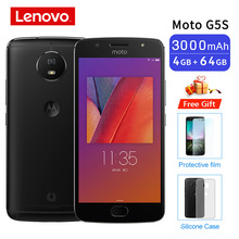 4G Phone Moto G5S 4GB 64GB Black Smartphone 5.2 Snapdragon 430 Octa Core Cellphone Android Mobile phone Support NFC Global ROM