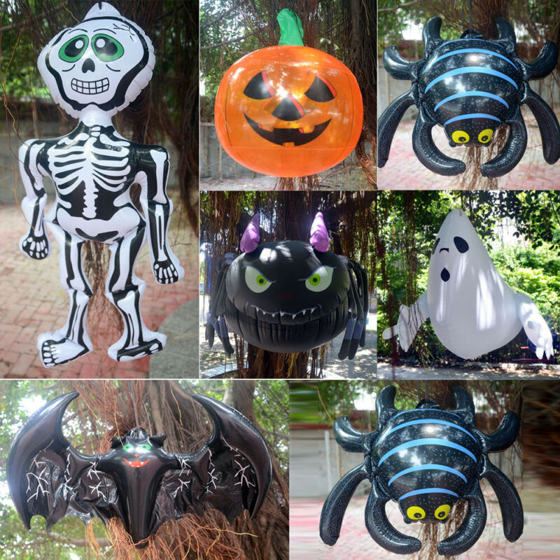 New Halloween Hanging Bat Skeleton Pumpkin PVC Gonfiabile Animato Outdoor Party Decoration Funny