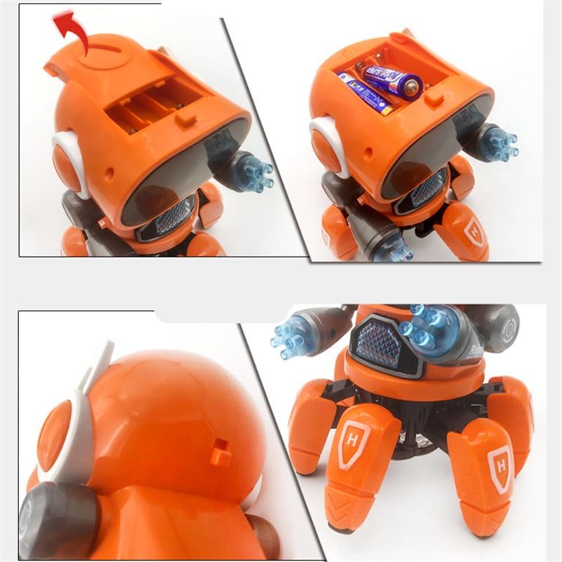 Crianças brinquedos música dança robô polvo elétrico