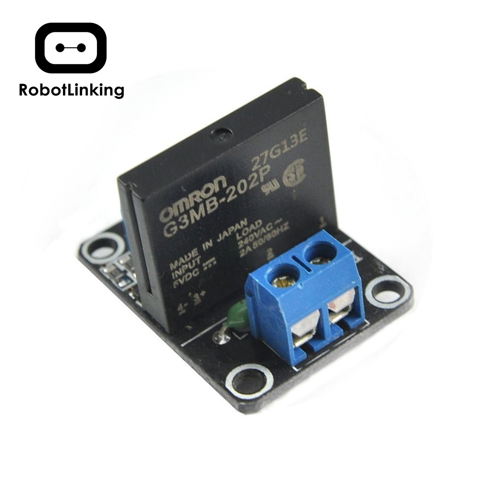 <font><b>A03B</b></font> 1 Road 5v Low Level Solid State Relay Module with Fuse SSR 250V 2A Fuse image