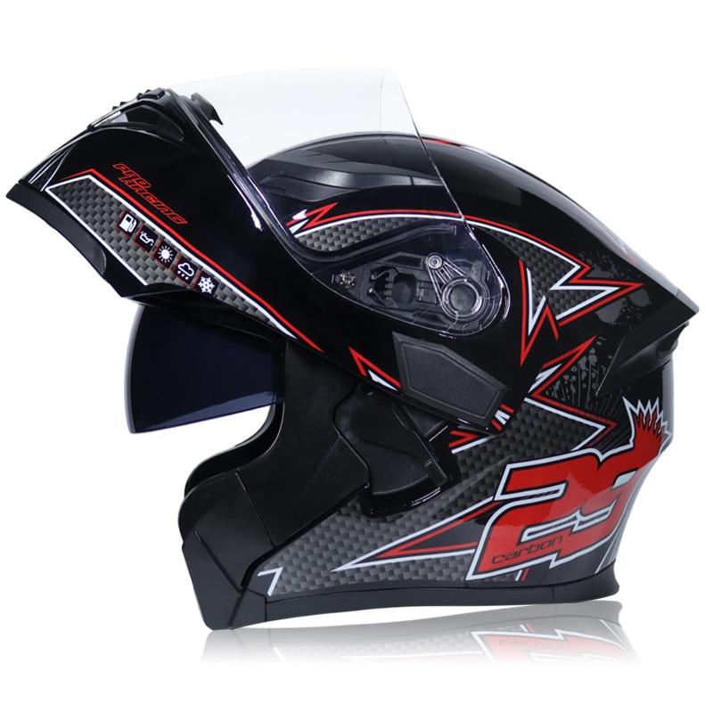 Image 3 - NEW DOT ECE JIEKAI 902 Motorcycle Flip up Winter helmets Safety Racing Motocross Capacete Quad Dirt Bike helmet-in Helmets from Automobiles & Motorcycles