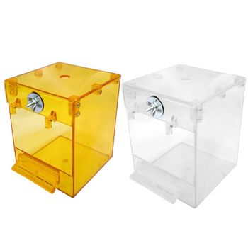 Wiszące oczko wodne kostka oczko wodne wanna Parrot wanna kabina prysznicowa miska klatka myjnia przestrzeń czyszczenie akcesoria do pielęgnacji tanie i dobre opinie CN (pochodzenie) CERAMICZNA as described