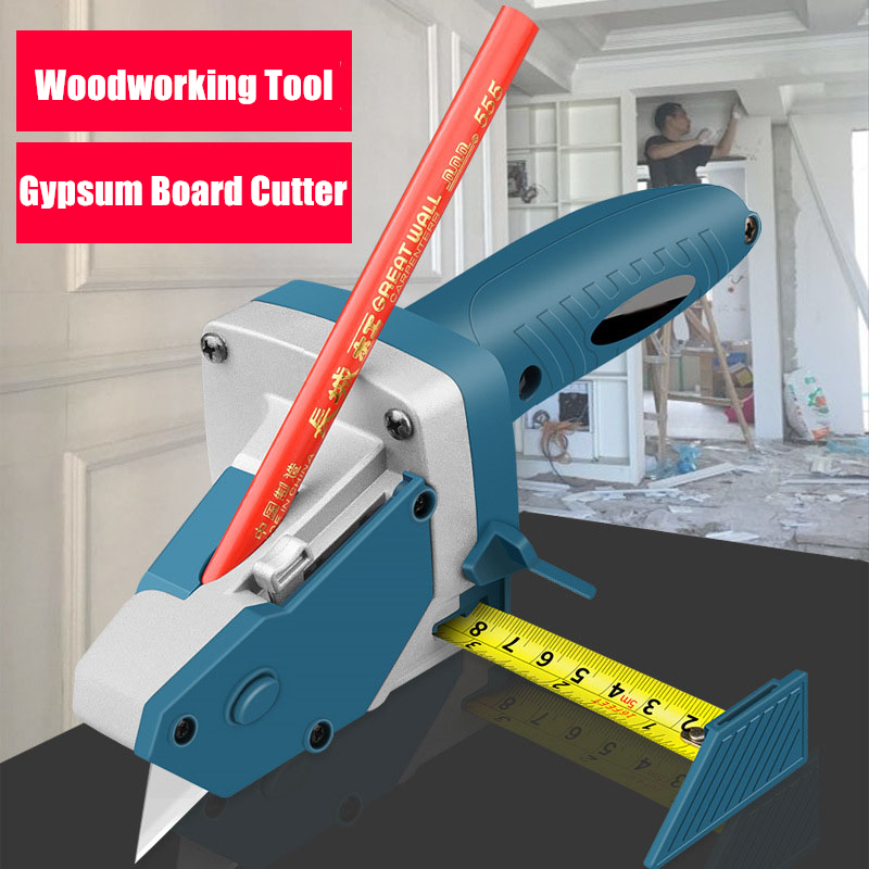 OERTUFU Cut Drywall Tool ABS Tile Coctor Attachment t Does Guide Portable Gypsum Woodwork Cement Board Verticle Horizontal Locator Tape Measure Manual