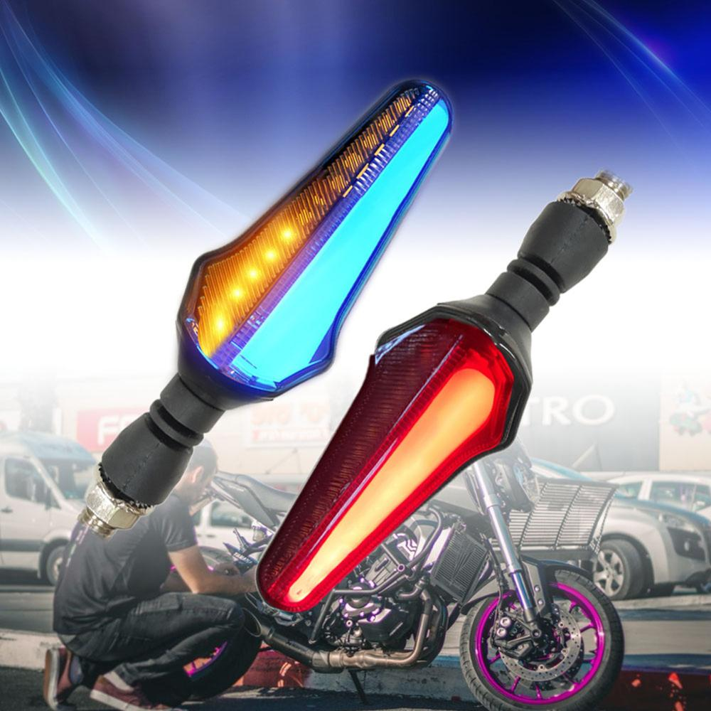 New Style Waterproof 24LED Two-color Guide Motorcycle Water Turn Signal Daytime Running Brake Light Integration Novelty Light