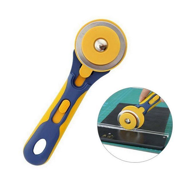 ^ Acier inoxydable pour Patchwork tissu à coudre en cuir plat bandes de caoutchouc table de cuisson ronde coupe artisanat couteau rond tailleur coupe ^