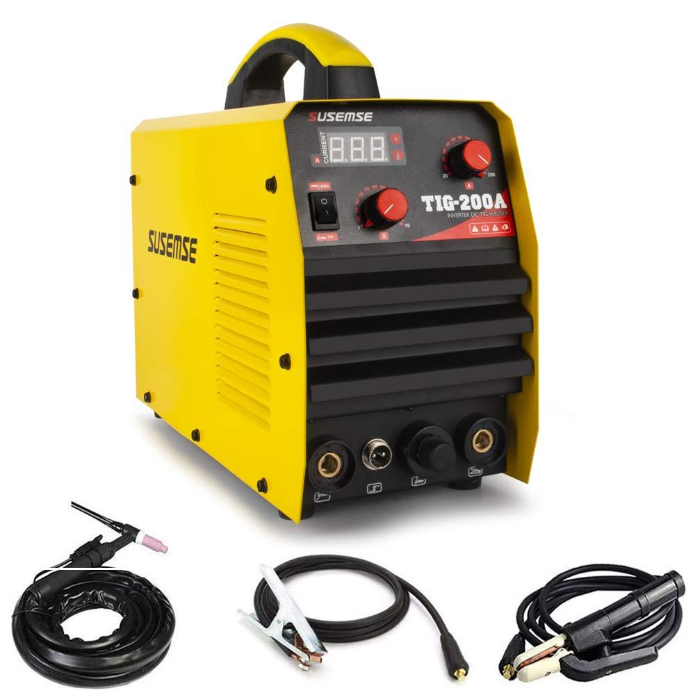 Spawarka TIG falownik podwójnego napięcia 110/220V 200Amp HF rozpocząć zgrzewarka TIG i materiały eksploatacyjne