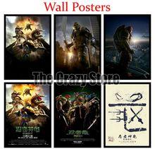 цена на Teenage Mutant Ninja Turtles Classic White Kraft Paper Painting movie Art Print Poster Wall Picture For Home Decor 42X30cm