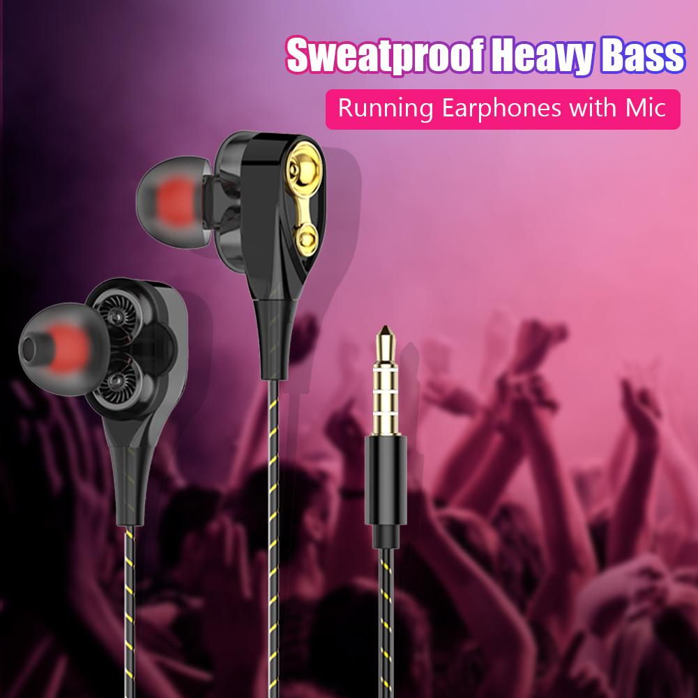 Wired Earphone Headset Earbud Computer High-Bass In-Ear with Mic-Usage And Universal