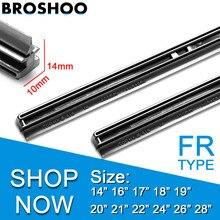 Car Wiper blade Windscreen Strips 1416171819202122242628 10mm FR Insert Natural Rubber Refill Strip Accessories