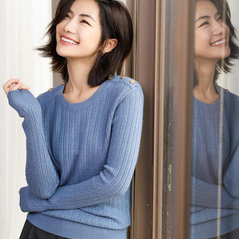 2019 겨울 캐시미어 스웨터 o-neck 부드러운 탄성 스웨터와 여성용 플러스 사이즈 긴 소매 스웨터 여성 점퍼