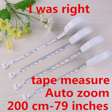 200cm / 79 Inch Thermal Tape Measure Portable Retractable Ruler Child Height Ruler Cm Tape Measure Sewing Measuring Tool