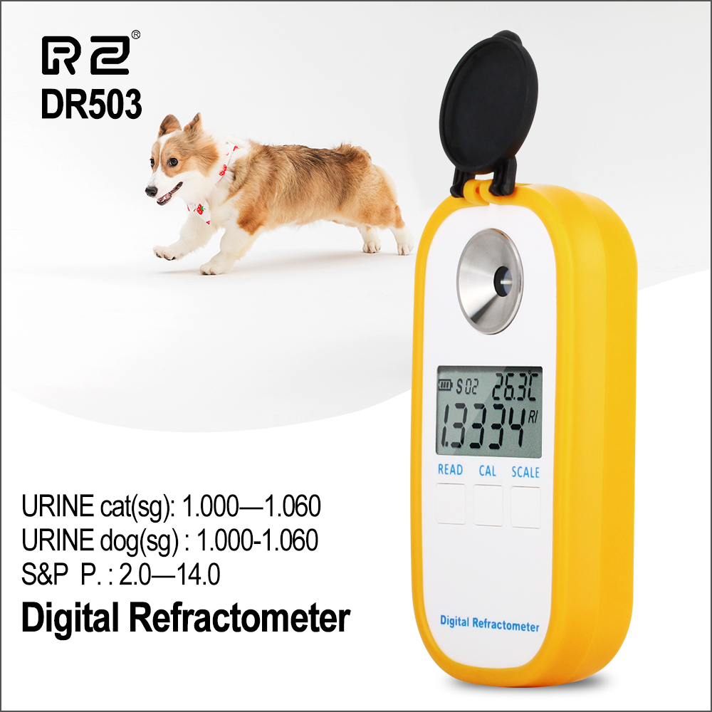 RZ Animal Clinical Refractometer Veterinary Human Serum Protein Piss Urine Refractometer Pet Dog Cat Specific Gravity Tester