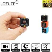 Jozuze sq11 mini câmera hd 1080p visão noturna filmadora detecção de movimento dvr micro câmera esporte dv vídeo ultra pequeno cam sq11