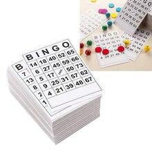 60pcs Grande Carte di Facile Lettura Per Adulti e Bambini Bingo Bingo Carte Da Gioco Lenzuola 0 A 75 Cifre 5.9x7.1