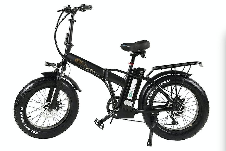 Склад в Европе 2 колеса Fat Tire 500 Вт Электрический велосипед 55 км/ч электрический велосипедный цикл 48 В 15ah съемный аккумулятор подарок багажная стойка - Цвет: black n Luggage rack