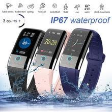 цена на Fitness Smart Bracelet Watch Band Trcker Sport Pedometer Heart Rate Blood Pressure Bluetooth Health Wirstband Waterproof