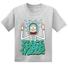 2019 Cartoon Rick And Morty Kids Funny T-shirts Children Summer Cotton Short Sleeve Baby T shirt Boys/Girls Casual Tops Tees недорого