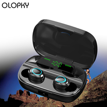 New Wireless Bluetooth 5.0 Earphone Mini TWS HD Call 9D Stereo Earbuds Smart Touch LED Display Sports Portable Headset With Mic mini real wireless earphones t1 tws bluetooth v5 0 earbuds hi fi stereo sound earphone call reminder portable headset with mic